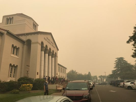 California Schools closed as smoke from Camp fire reaches skies